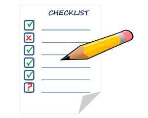 Formalisation du besoin : Check-list