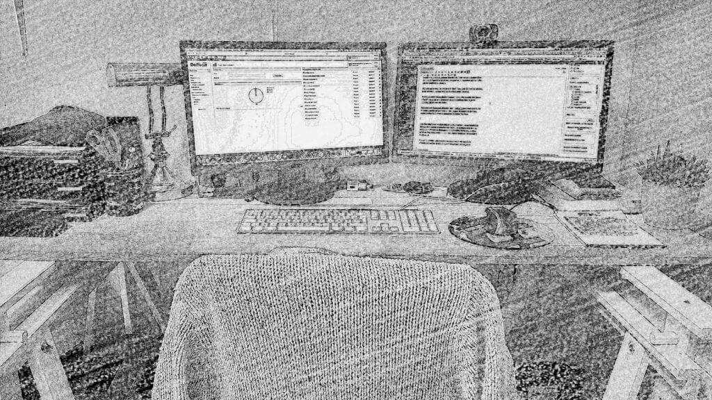 Working desktop