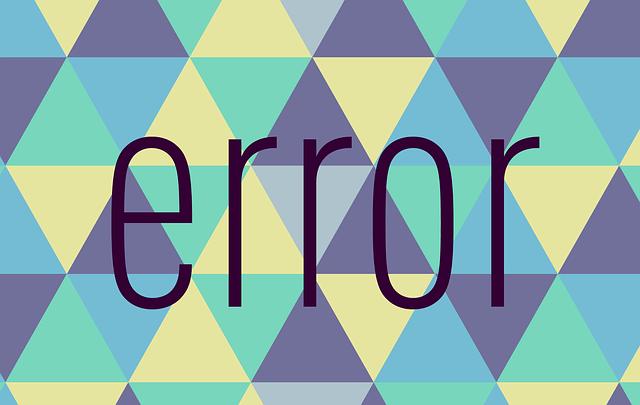 error bug
