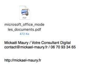 Intégration fichier partagé dans Outlook 2016