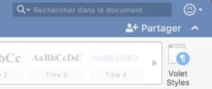 "Bouton ""Partager"" dans Word"