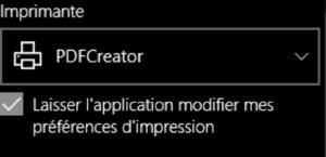 Imprimante PDF Creator