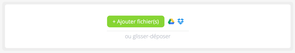 PDFCandy : ajouter fichiers