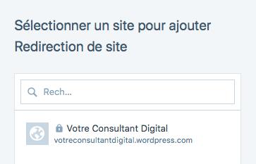WordPress.com - mise en place d'une redirection de site