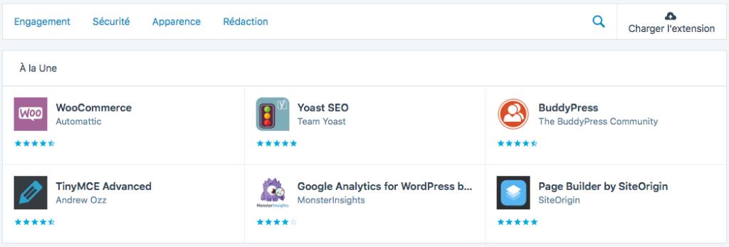 WordPress.com - les extensions