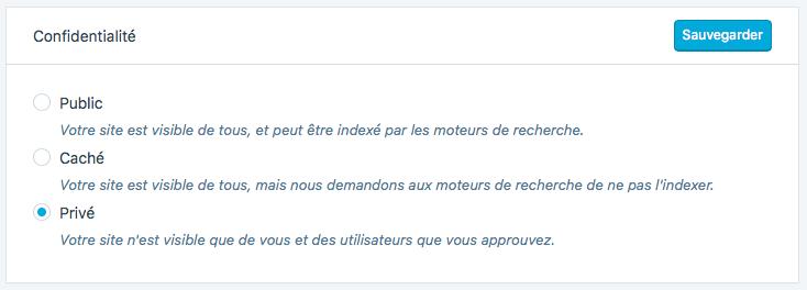WordPress.com - Confidentialité