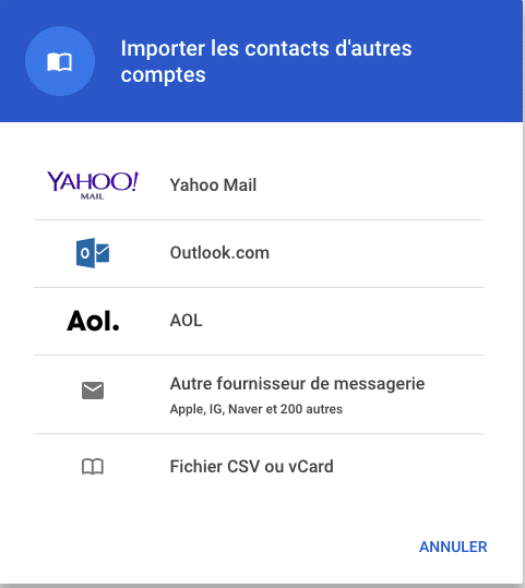 Google Contacts - importer