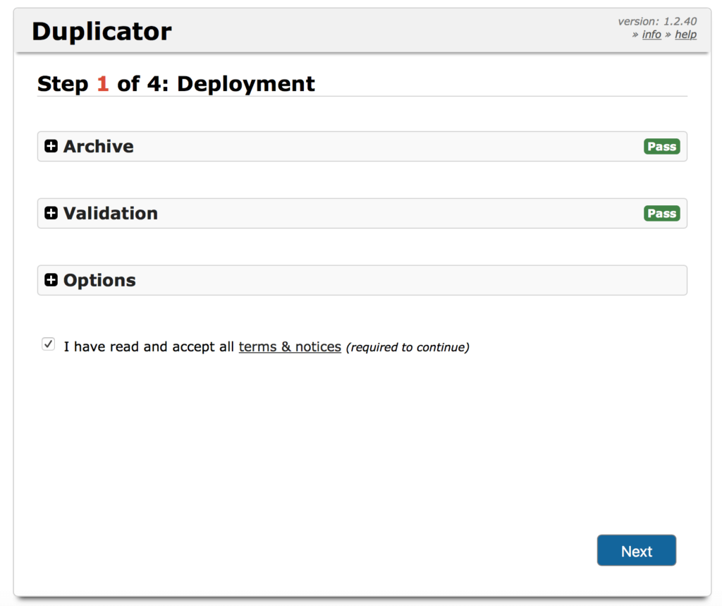 WordPress Duplicator - déploiement