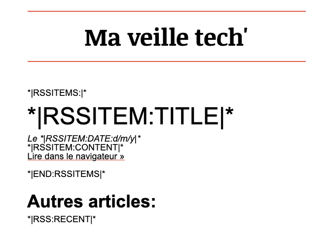 MailChimp - RSSITEM
