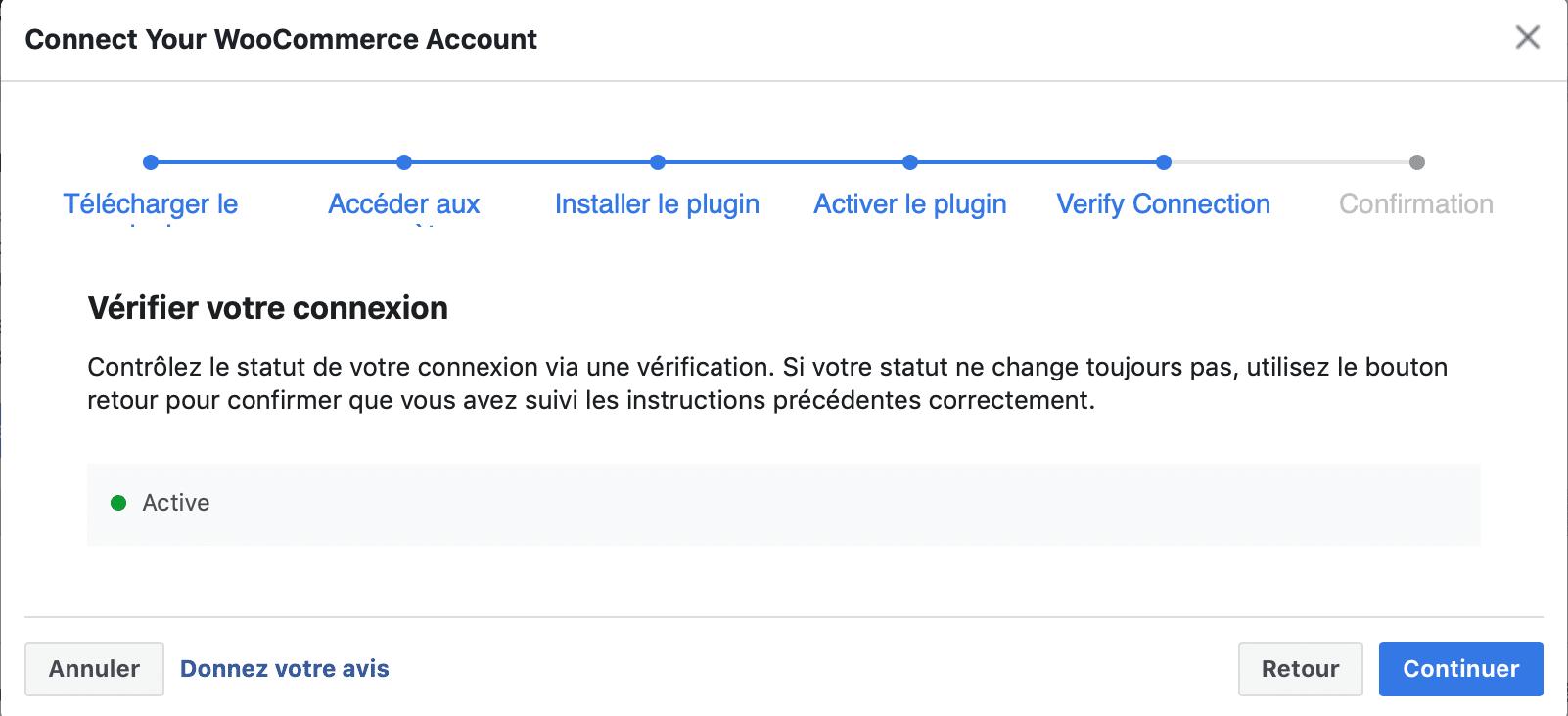 Test connexion pixel Facebook