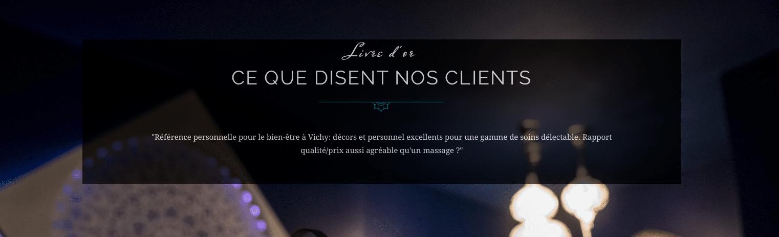 Aqualys Vichy - Témoignages clients