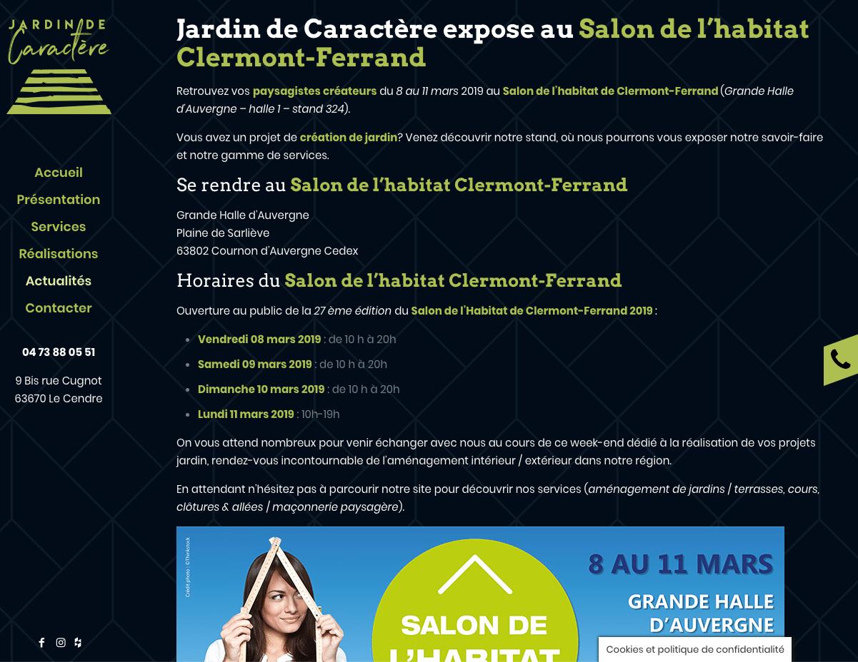 Jardin de Caractère - articles de blog