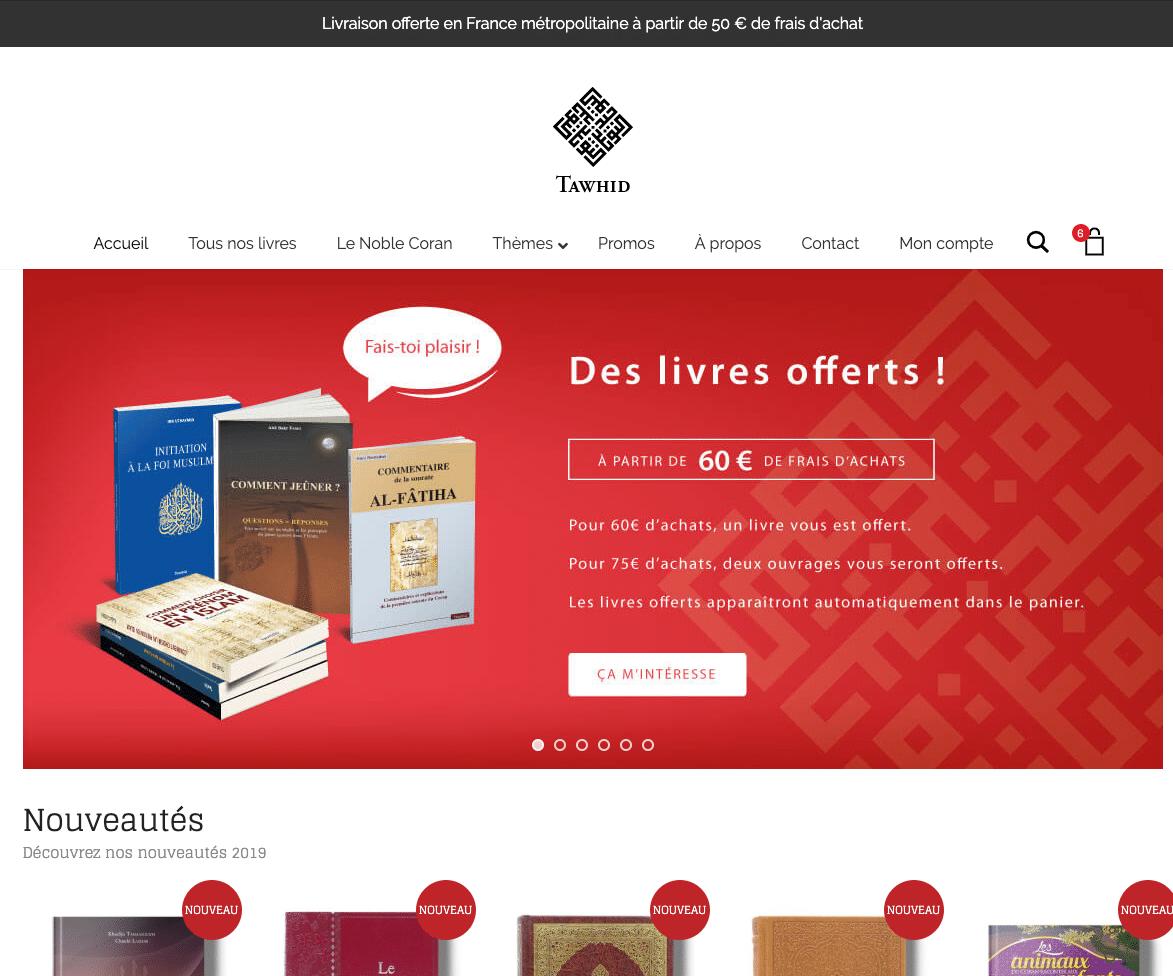 Edition Tawhid : accueil
