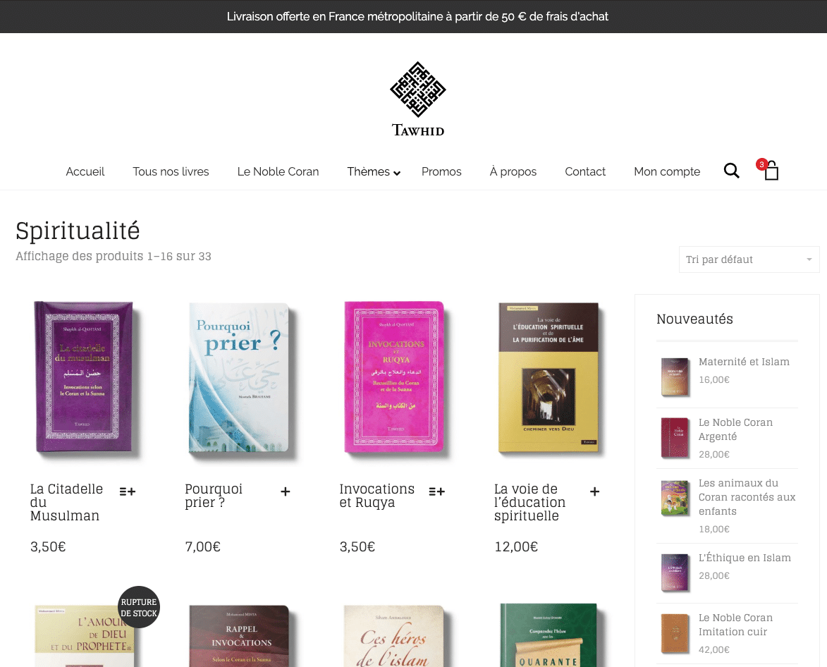 Edition Tawhid : catalogue produits