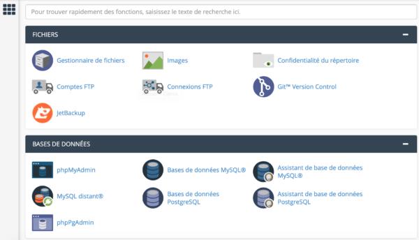 CPanel - migration d'hébergement web
