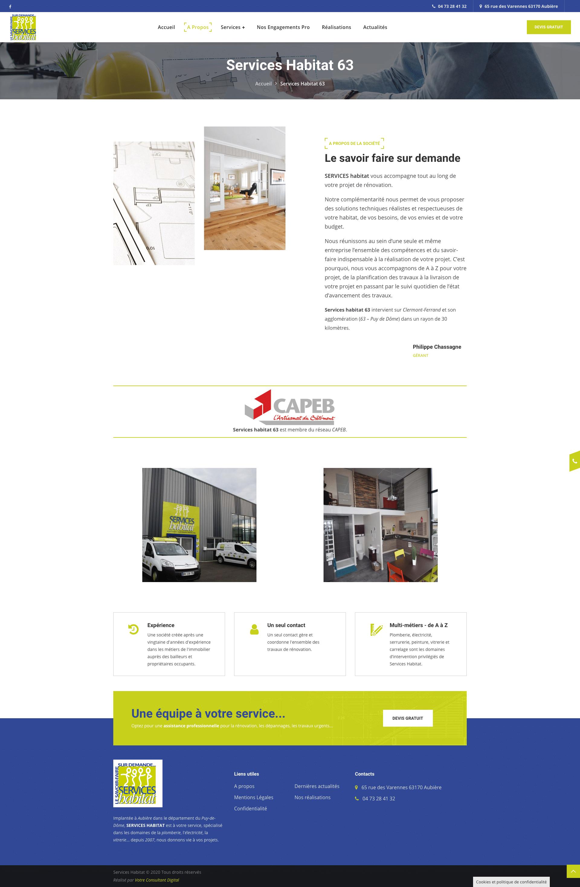 A propos - Services Habitat 63