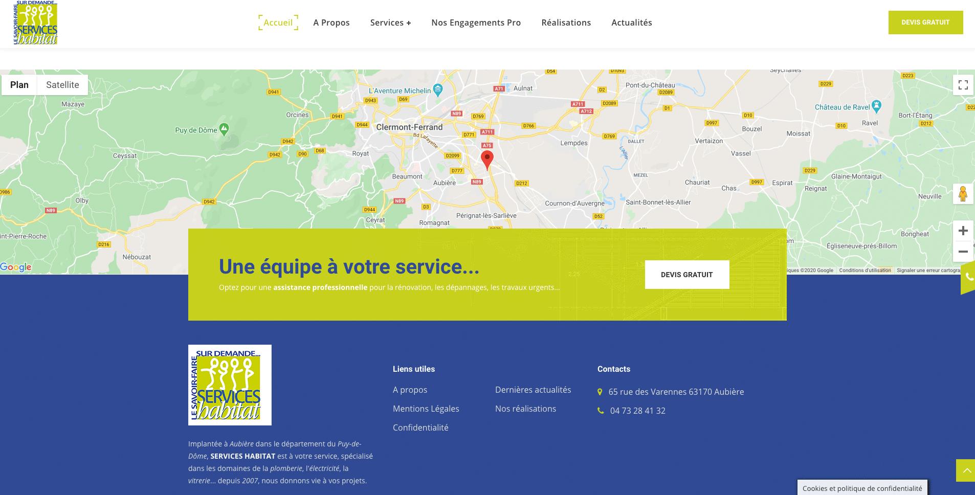 Google Map - Services Habitat 63