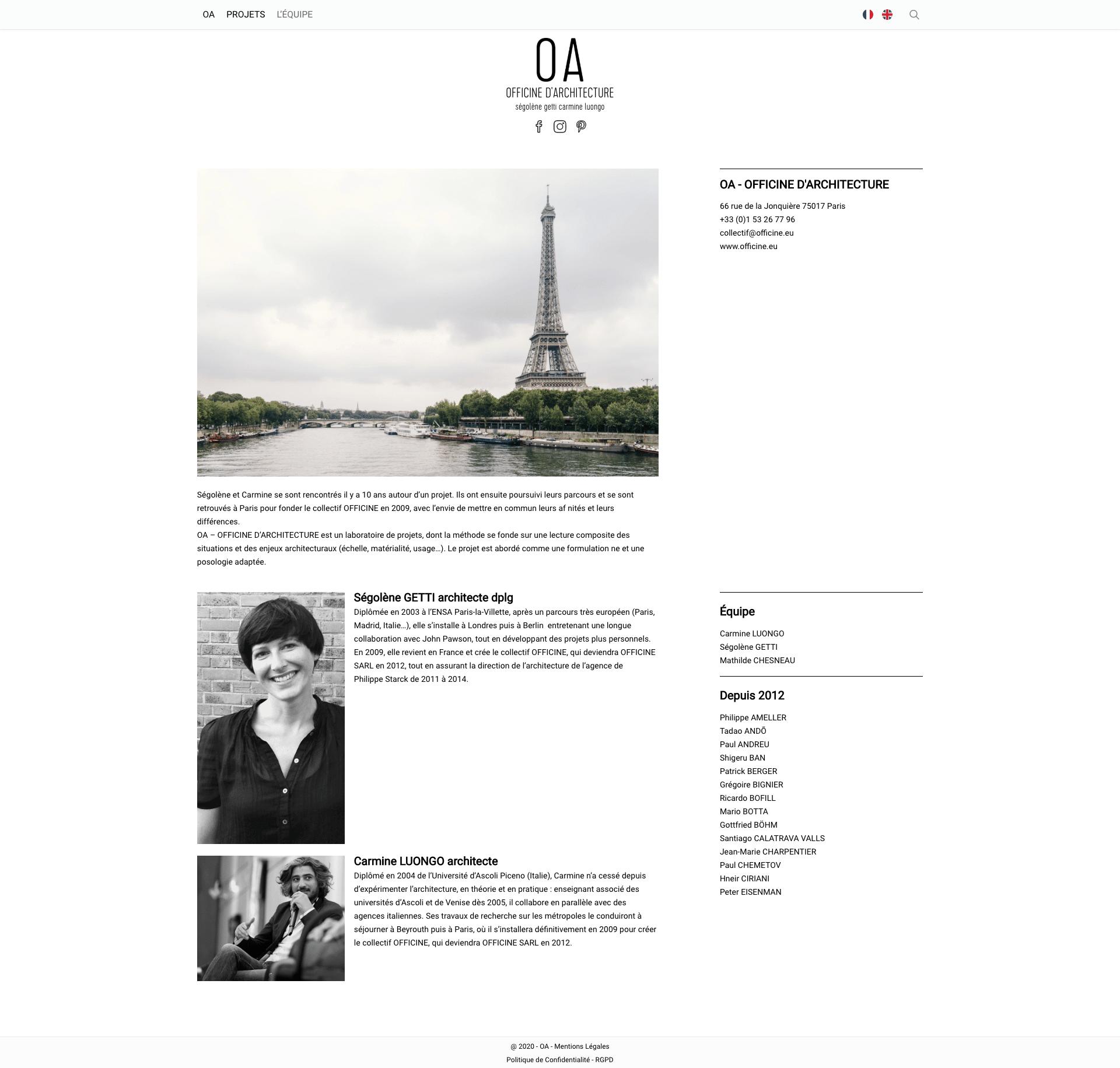 OA - Officine Architecture - Equipe