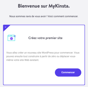 Kinsta : créez votre premier site