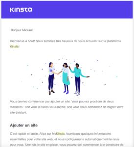 Kinsta : bienvenue