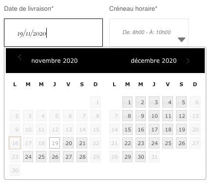 MAGDALA La Pâtisserie - TOULOUSE - choix date et heure de livraison / retrait