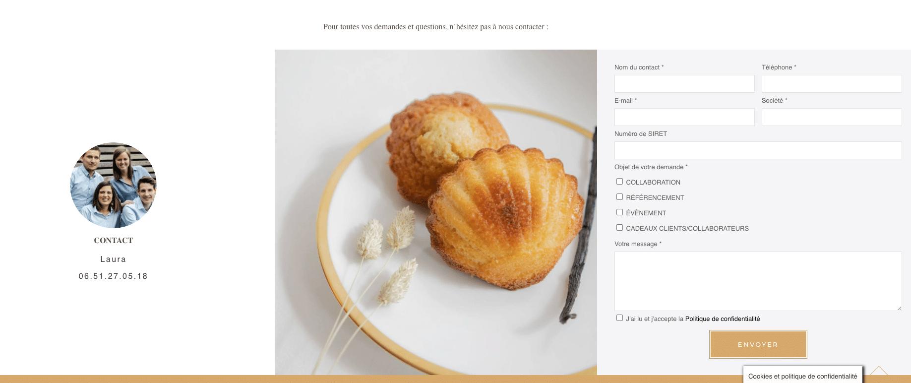 MAGDALA La Pâtisserie - TOULOUSE - Formulaire de contact entreprises