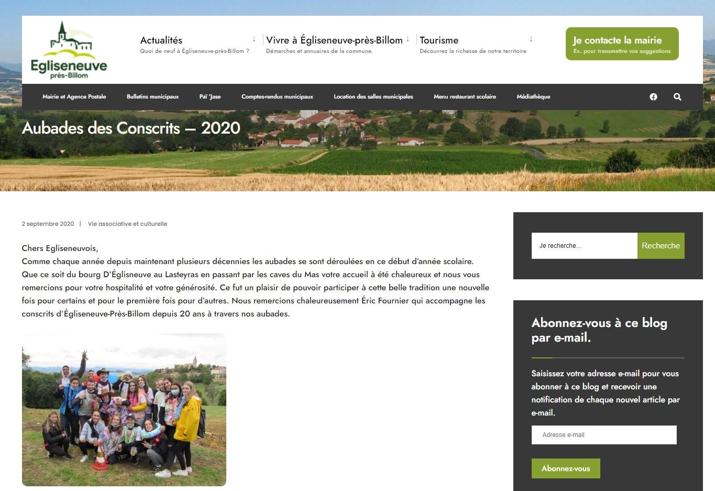 Mairie d'Egliseneuve-près-Billom : blog