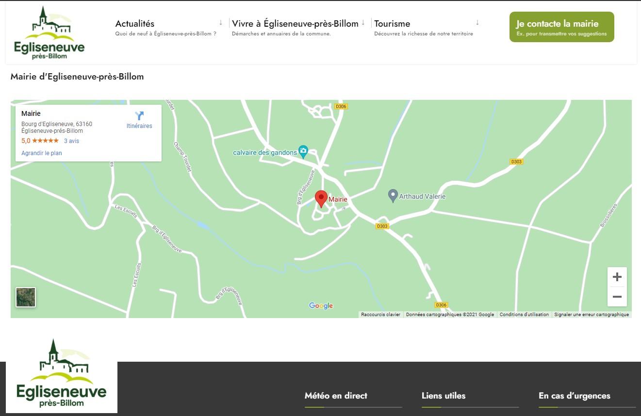Mairie d'Egliseneuve-près-Billom : carte et accès