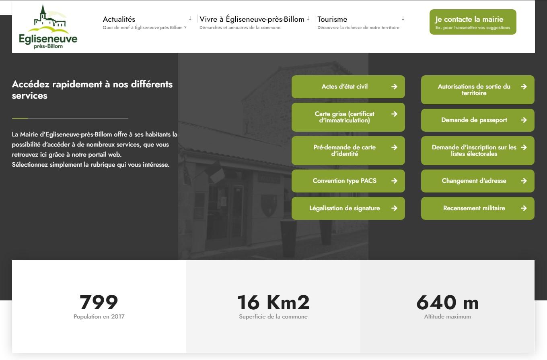 Mairie d'Egliseneuve-près-Billom : liens services public