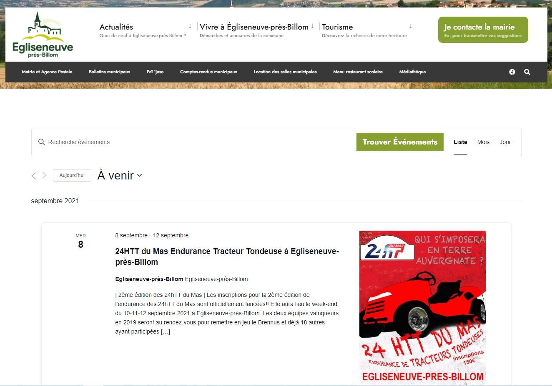Mairie d'Egliseneuve-près-Billom : événements